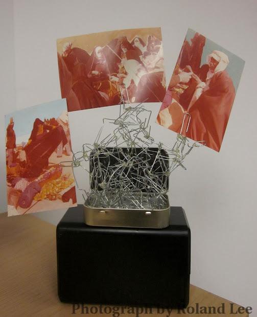Apartment Art Paper Clip Sculpture