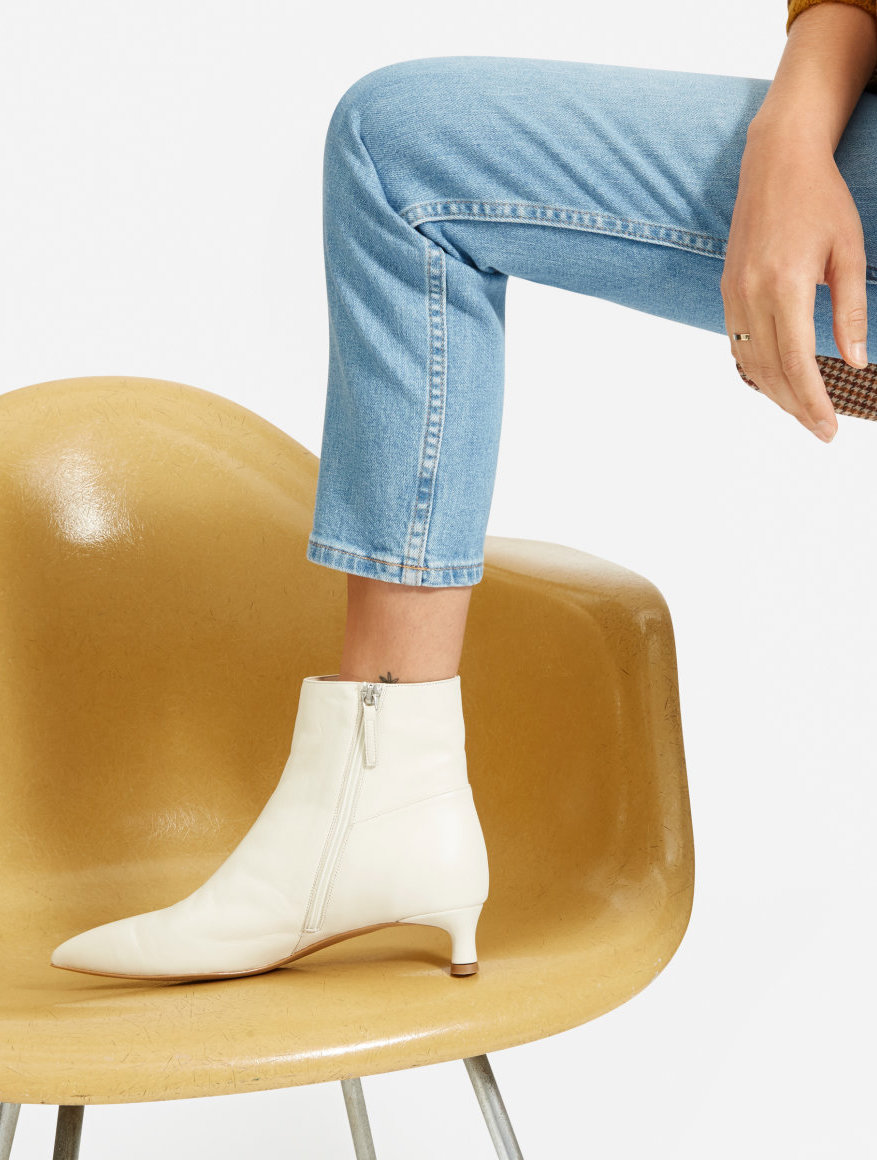 New Everlane Shoe — The Editor Boot in Bone White