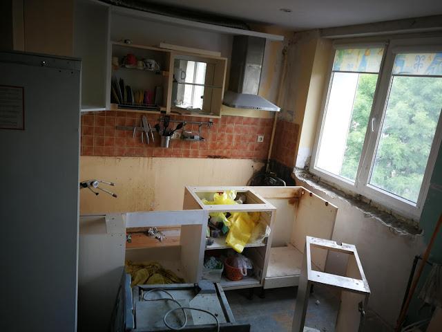 Išardyti virtuvės baldai