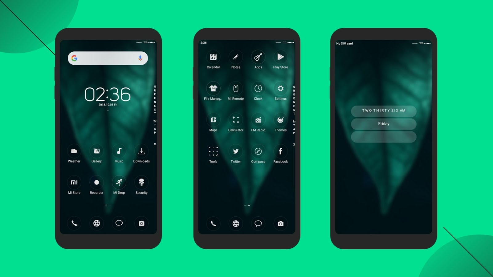 Greenest theme for MIUI Xiaomi devices