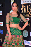Nandita Swetha in a tight Green Choli Ghagra at IIFA Utsavam Awards March 2017 ~ 027.JPG