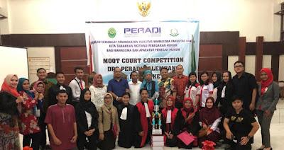 Jadi Perwakilan Lampung, MCC FH UBL Raih Peringkat 3 Lomba Peradilan Semu se-Sumatera