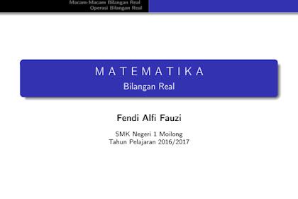 Bahan Ajar ICT Matematika SMK Kelas X Tahun Pelajaran 2016/2017 Format PDF
