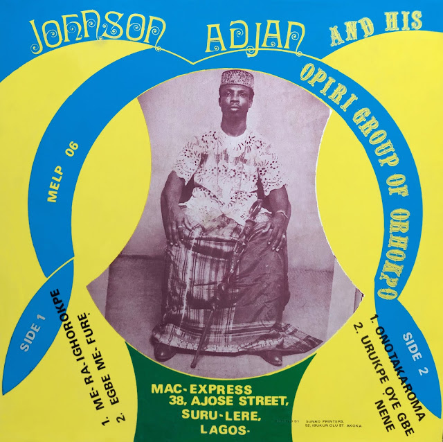 #Nigeria #Urhobo #Johnson Adjan #Delta State #traditional music #world music #African music #musique africaine #roots music #Orhokpo #vinyl #rare #musique africaine #musique traditionnelle #proverbs #parables #drums