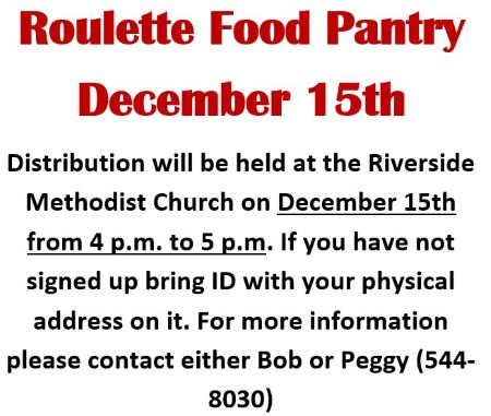 12-15 Roulette Food Pantry