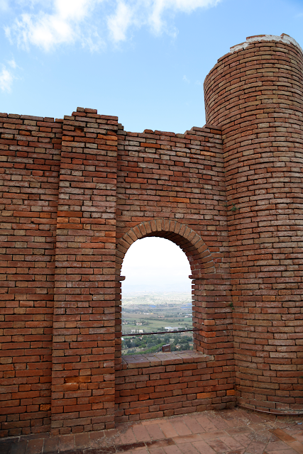 At the Top of Rocco Tower, San Miniato, Tuscany, Italy
