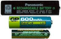 Beberapa jenis baterai laptop