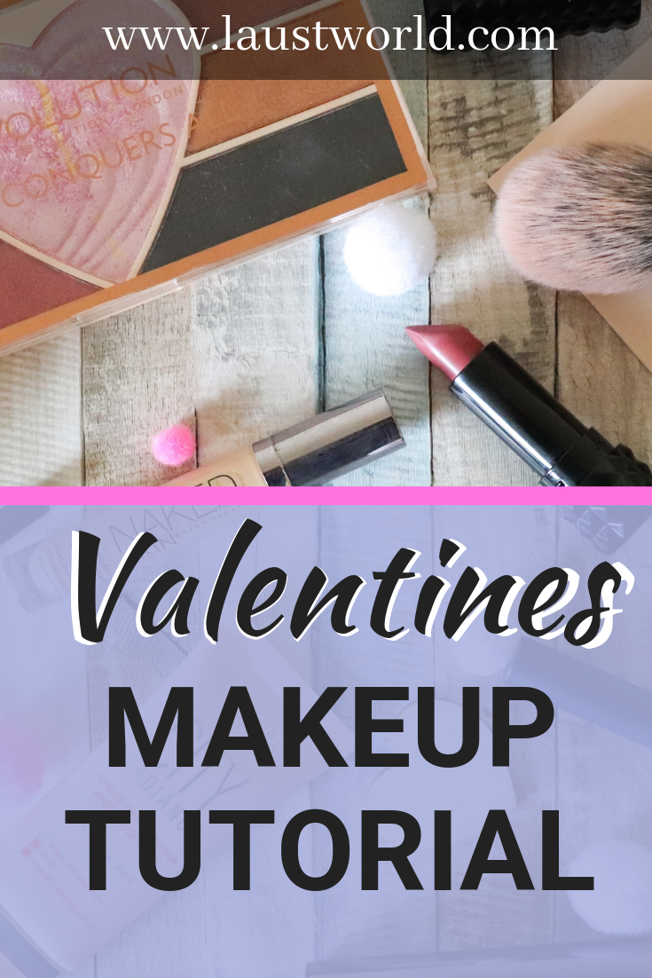 Pinterest graphic = valentines inspired pink makeup look