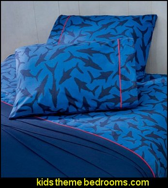 Decorating theme bedrooms  Maries Manor Shark Bedrooms  shark murals  shark bedding  Shark