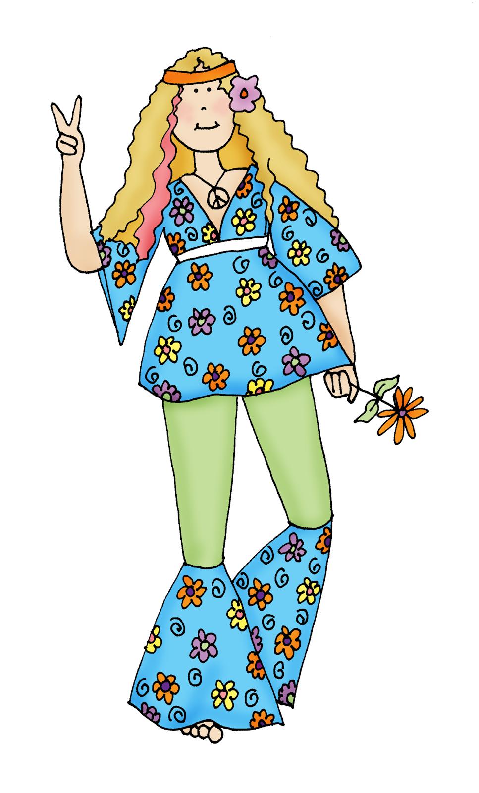 Free Dearie Dolls Digi Stamps: Hippie Chick (967 x 1600 Pixel)
