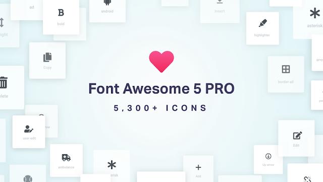 Share miễn phí bộ Font Awesome Pro cho Website mới nhất 5.10.2