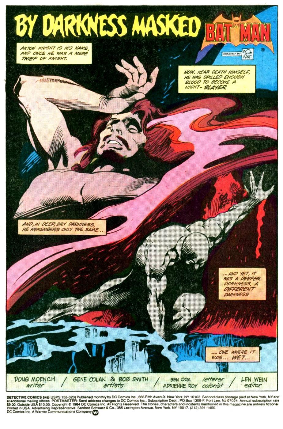 Detective Comics (1937) 545 Page 1