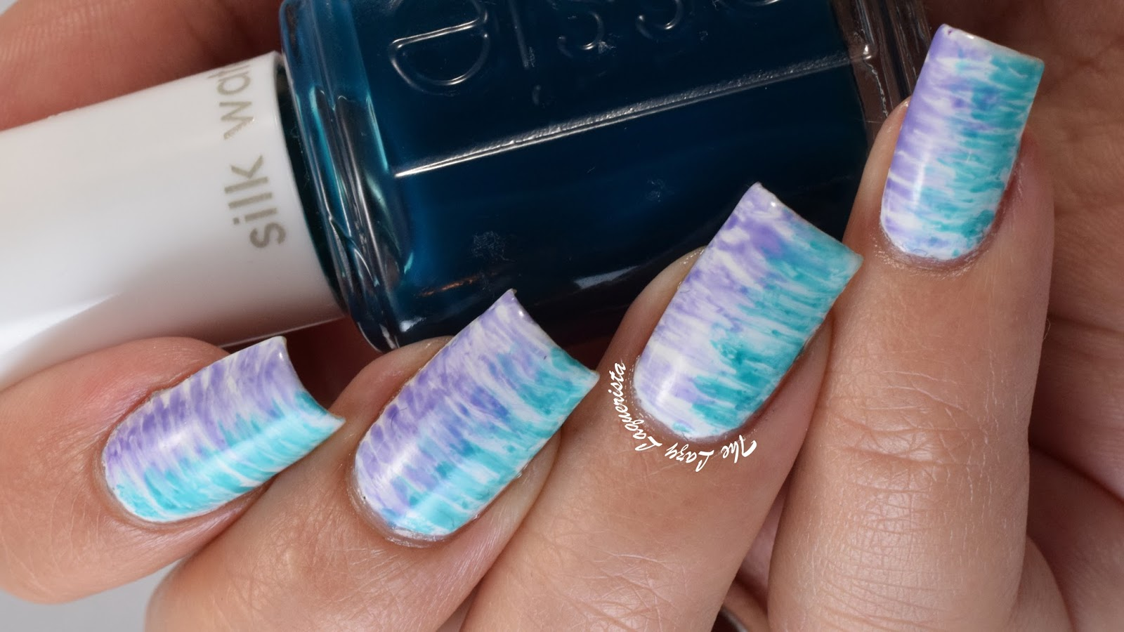 Manicure Manifesto: Essie Silk Watercolor Scribble Nail Art