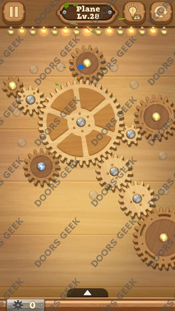 Fix it: Gear Puzzle [Plane] Level 28 Solution, Cheats, Walkthrough for Android, iPhone, iPad and iPod