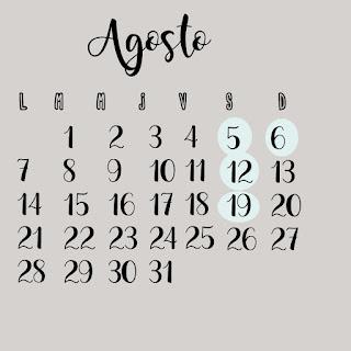 calendario agosto 2017
