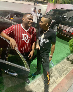 Tekno Pictured With Ubi Franklin As He Returns After Recovering From Ailment