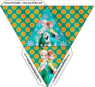 Caja con forma de pirámide de Frozen Fiebre Congelada.
