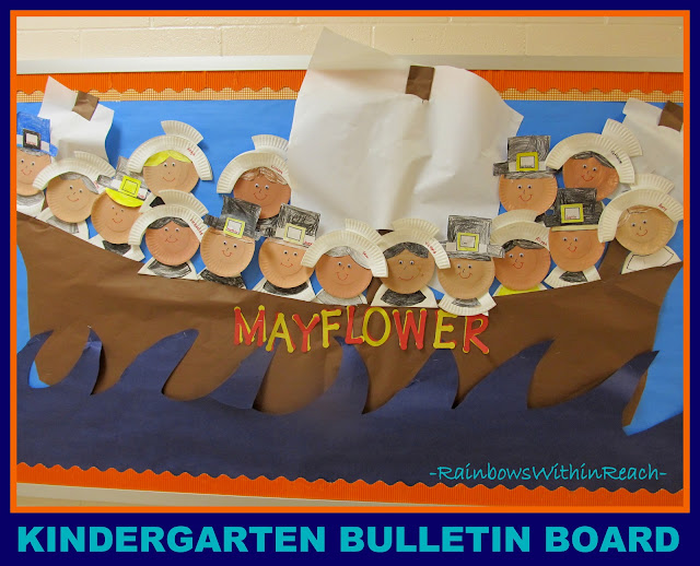 photo of: Mayflower Kindergarten Bulletin Board via RainbowsWithinReach