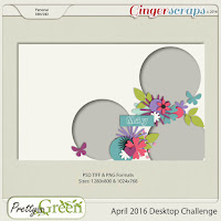 April 2016 Desktop Challenge by pretty in green designs