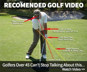 Golf swing.Golf course.