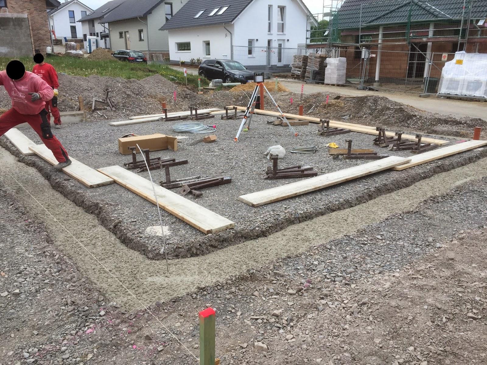 Wir Bauen Ein Haus Bodenplatte Tag 1