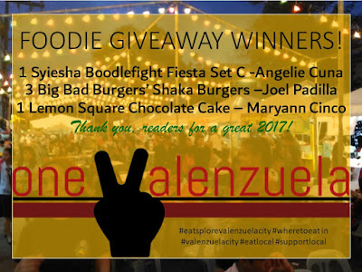 FOODIE GIVEAWAY WINNER