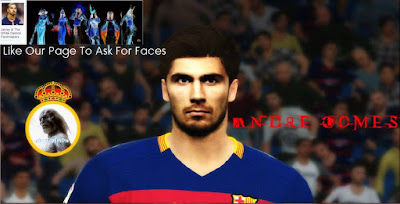 PES 2016 Andre Gomes Face By The White Demon Collab With Memo
