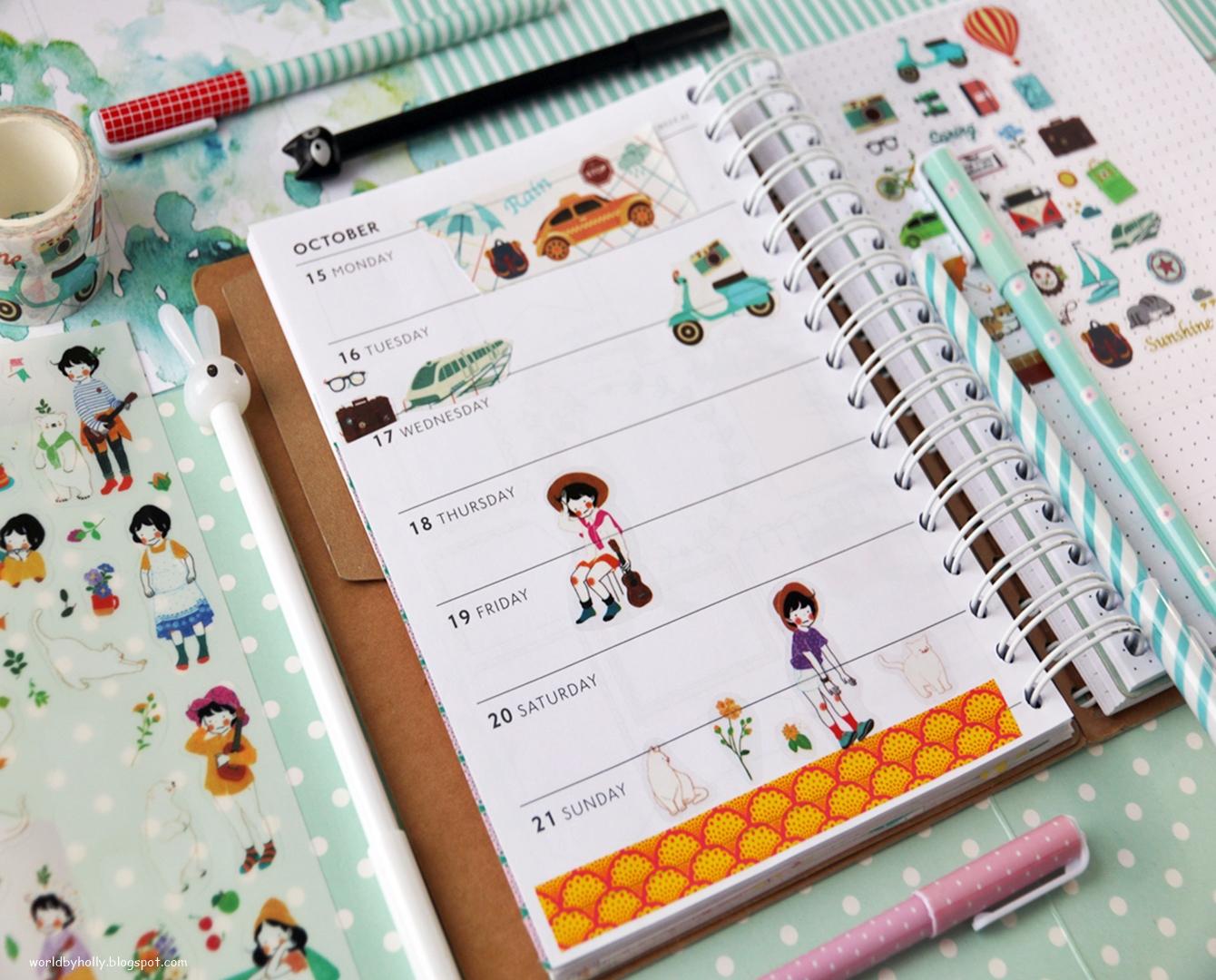 planer podróży, notes travel