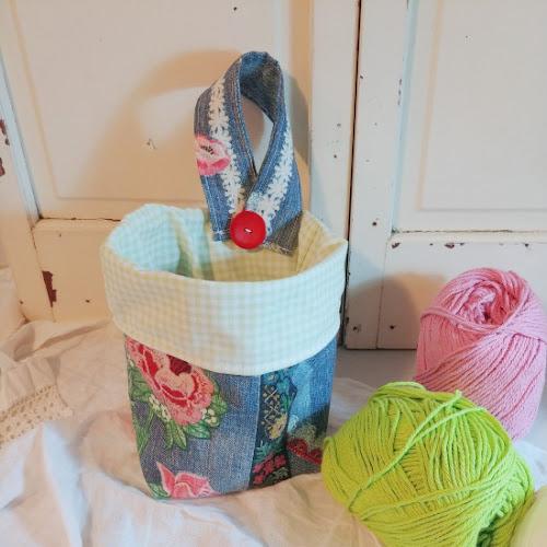 Upcycled Denim Fabric Baskets