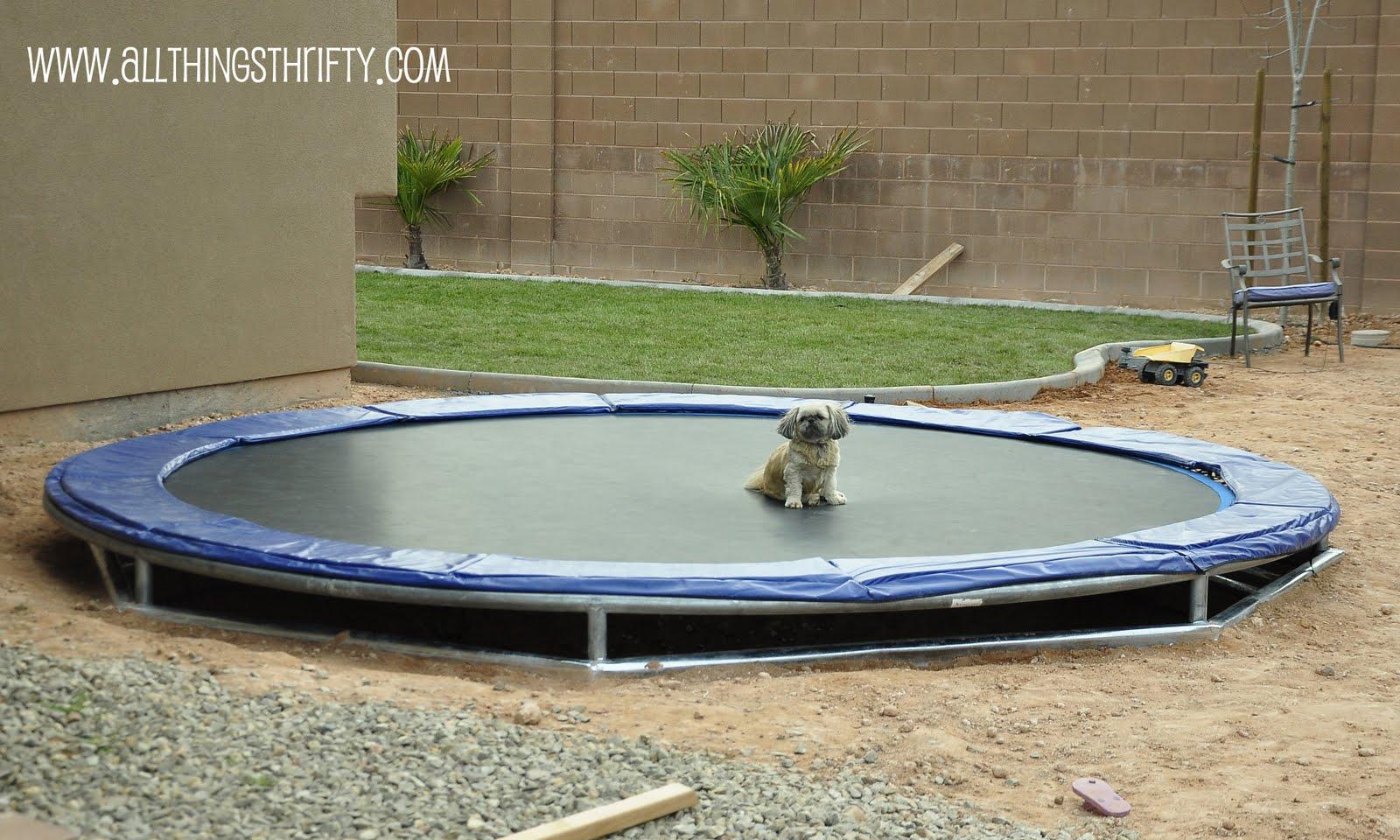 diy inground trampoline instructions. Black Bedroom Furniture Sets. Home Design Ideas