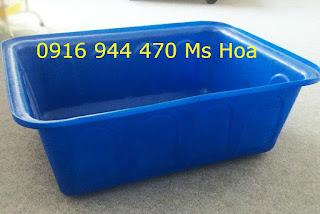 Cung cấp thùng nhựa hình chữ nhật,thùng nhựa công nghiệp giá tốt.