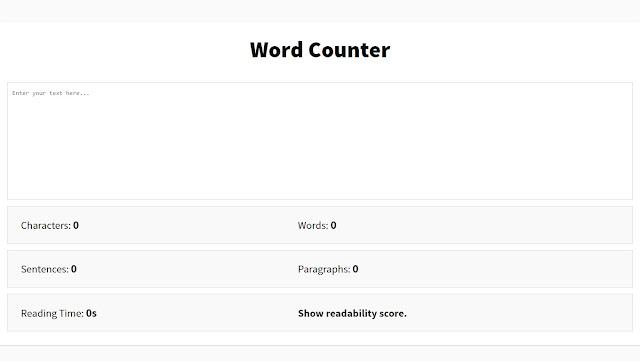 Cara Membuat Aplikasi Word Counter Tool berbasis HTML, Membuat Character Counter, Membuat Word Counter Tool di Blogger, Membuat Aplikasi Penghitung Jumlah Kata,