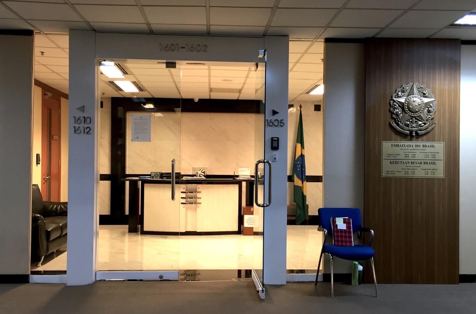 Pengalaman Mengurus Visa Brazil di Jakarta - Kedutaan Brazil Menara Mulia