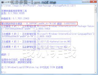 加入先前解開的 IE11