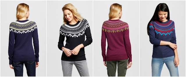 Merona Favorite Pullover Fair Isle Sweater $12 (reg $20)