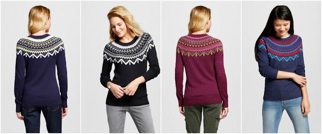 Merona Favorite Pullover Fair Isle Sweater $12 (reg $20)