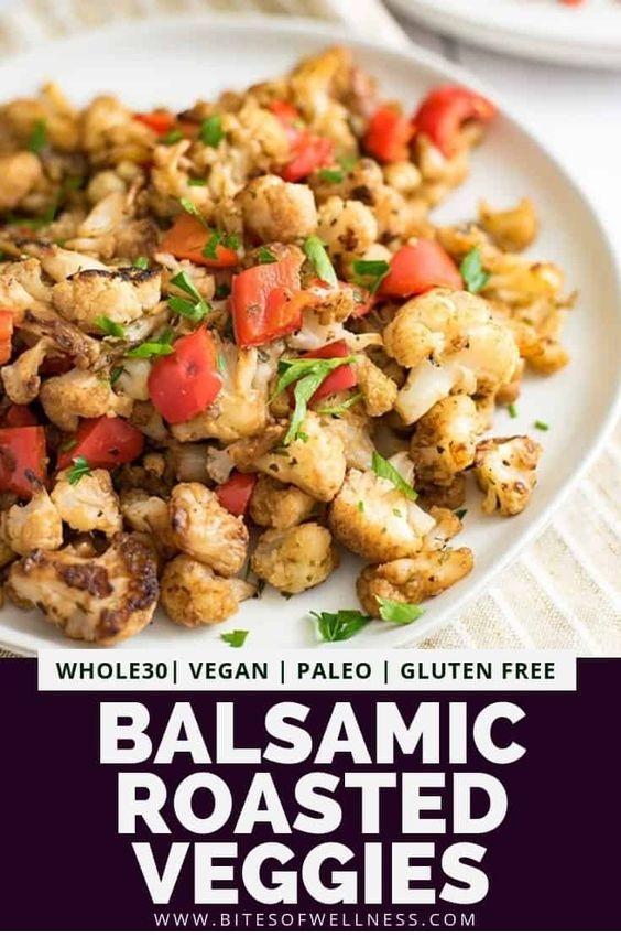 Simple Balsamic Roasted Vegetables