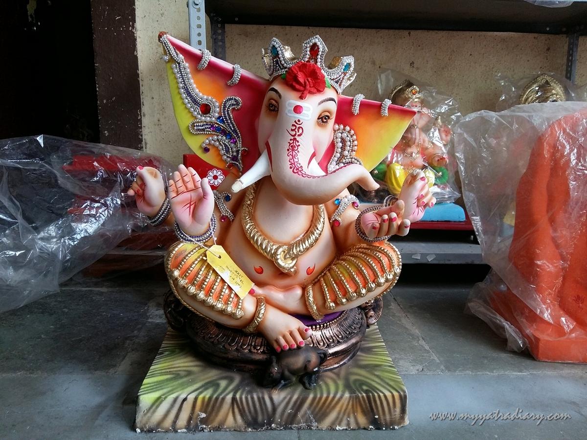 Antique Ganesha idol, Ganesh Chaturthi, Mumbai