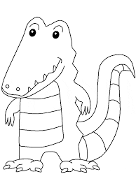 Adorable Crocodile Coloring Sheet For Print