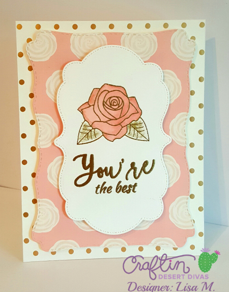 Rose Watercolored - Cream, Blush, and Gold Greeting Card