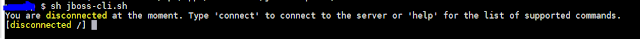 JBoss CLI terminal