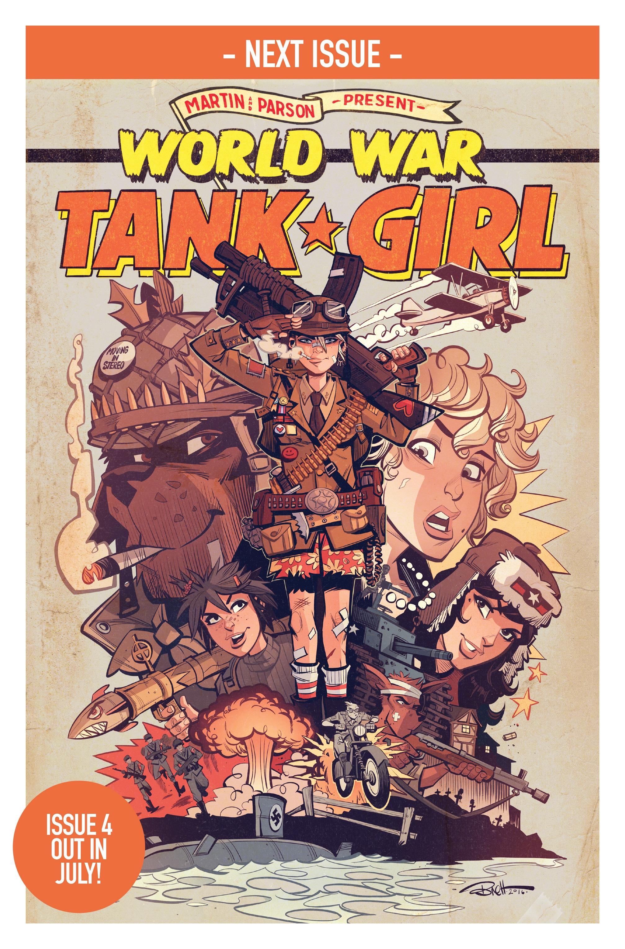 Read online Tank Girl: World War Tank Girl comic -  Issue #3 - 23