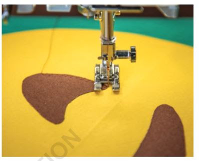 stitching applique in the Sew Emoji book