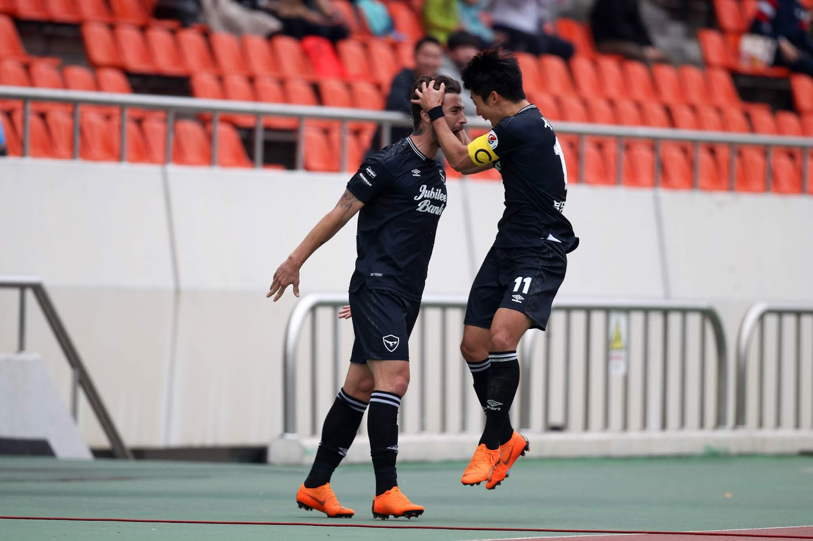 Seongnam FC Eder and Seo Bo-min K League 2