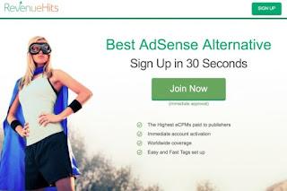 revenuehits, alternatif adsense terbaik