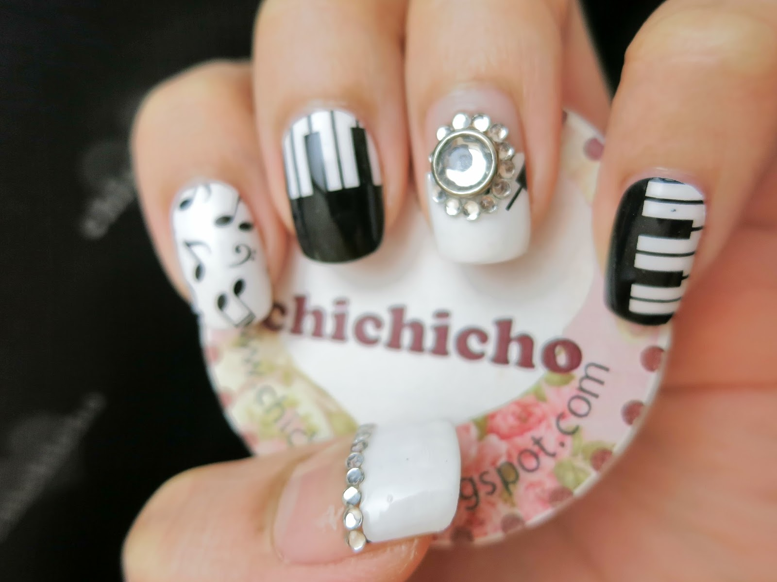 Piano and music nail art nail wrap s1257 chichicho piano something i havent play in ages thinking back i dont even know why i learned piano when i was little sure it was fun and enjoyable prinsesfo Images