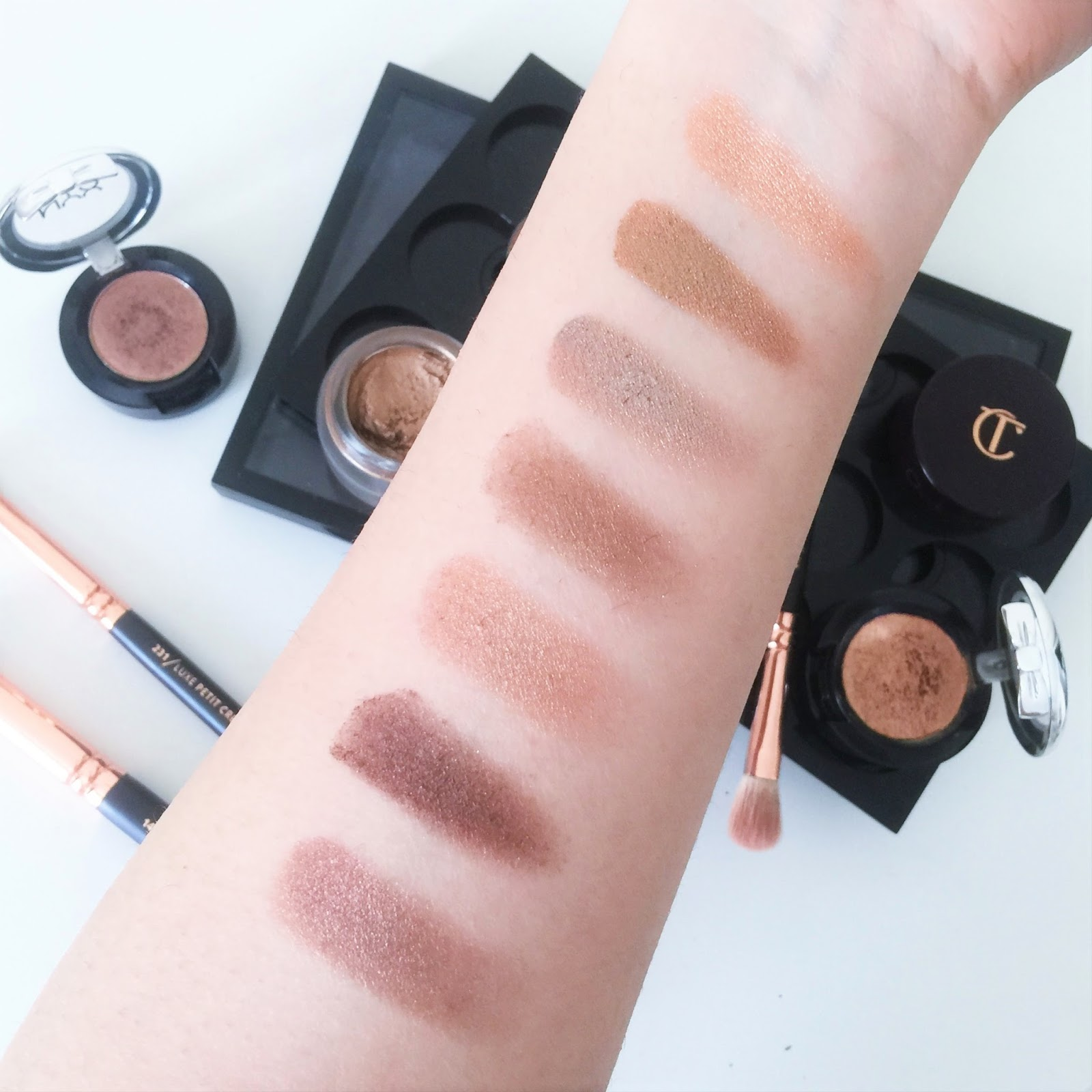 From L R Nyx Bedroom Eyes Mac Mulch Tempting Woodwinked Maybelline On Bronze Charlotte Tilbury To Mesmerise In Bette And Liquid