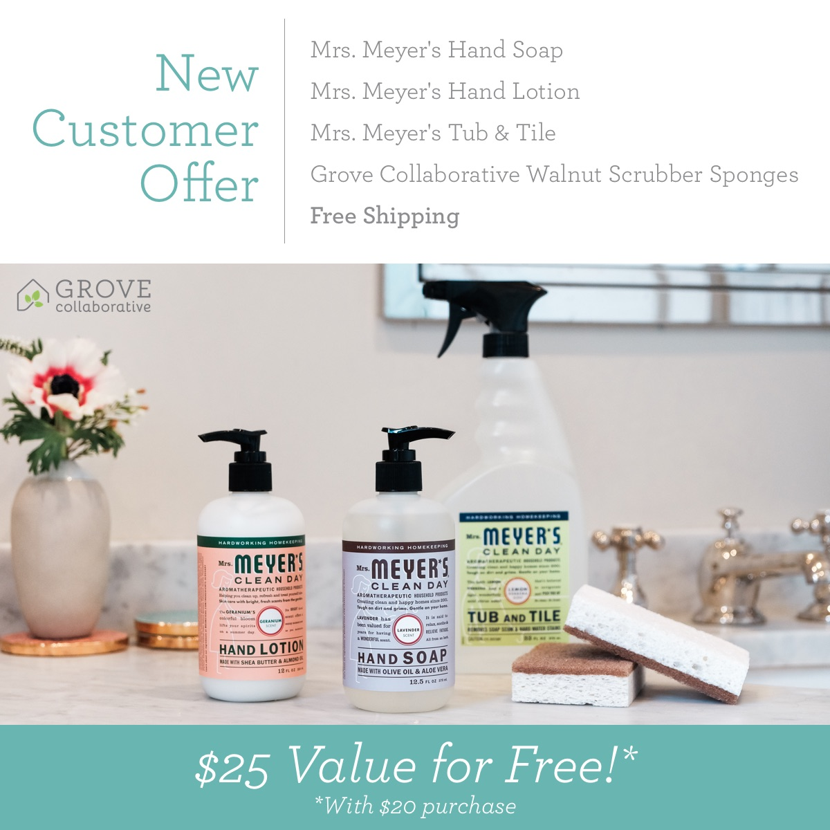 Bathroom Cleaning Essentials From Grove Collaborative