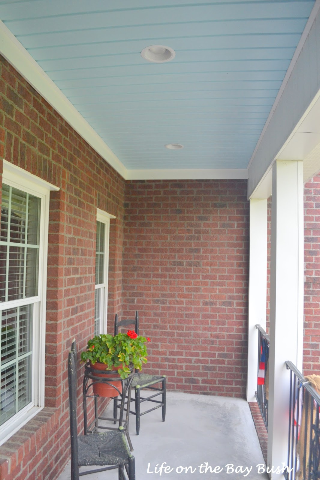 Painted Vinyl Porch Ceiling