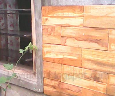 produk dekorasi dalam dan luar ruangan : dekorasi dinding kayu